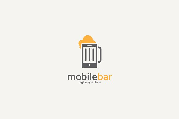 Mobile Bar Logo ~ Logo Templates ~ Creative Market