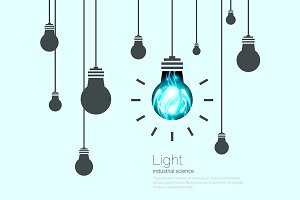 Light Bulbs Background.