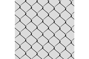 Realistic Steel Netting Cut