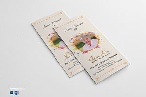 Trifold Funeral Program Template V03