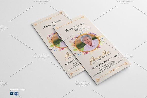 trifold funeral program template v03 brochure templates creative