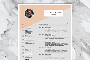 Lily Resume Template + Cover