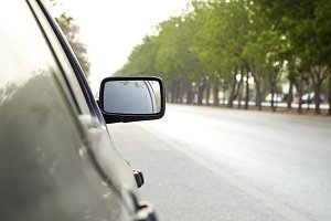 view mirror on a car