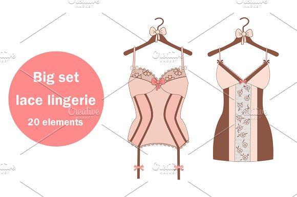 Big set with lace lingerie