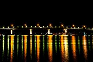 Beautiful Bridge with lighting.