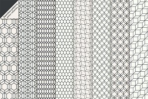Hexagonal linear seamless patterns