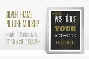 Silver Frame Picture Mockup