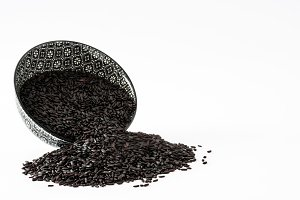 Raw black rice