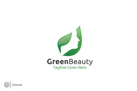 Green Beauty Logo Templates Creative Market