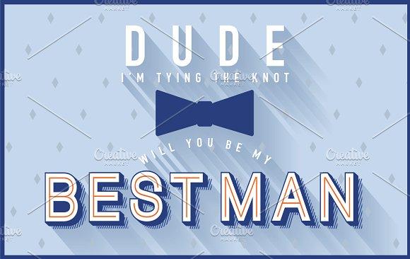 best man invitation template vector illustrations creative market