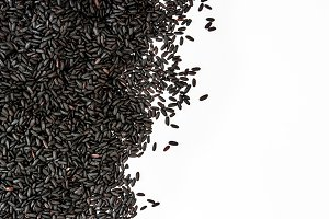 Black rice background