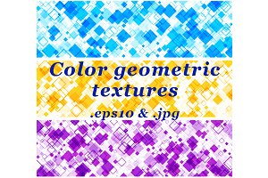 Color geometric textures set