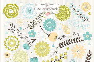 Vector Rustic flowers