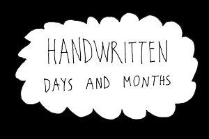 Handwritten days and months