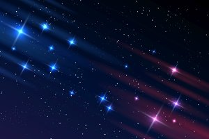 Night sky galaxy stars