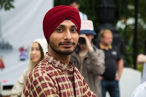 Young Indian in a turban