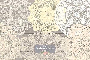 Cream vintage Doilies Lace Clipart