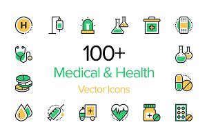 100+ Medical & Health Vector Icons
