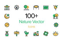 100+ Nature Vector Icons Set