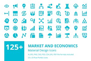 125+ Market and Economics Icons Set