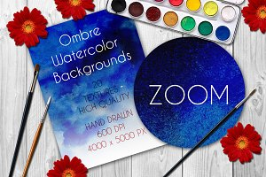 20 Ombre Watercolor Backgrounds