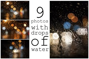9 Photos with drops of water