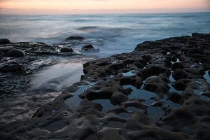 Ocean and Rock at Dusk 3