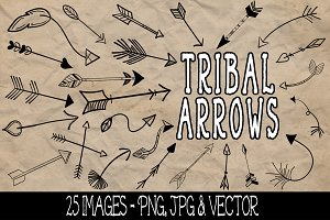 Tribal Arrows Clip Art