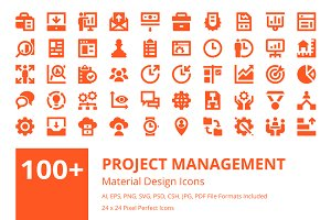 100+ Project Management Icons Set
