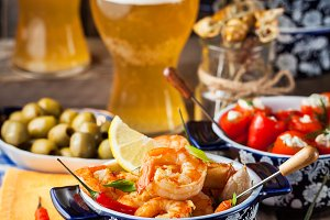 Spanish tapas appetizers
