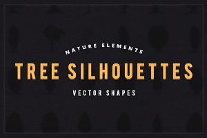 Nature Elements Tree Silhouettes