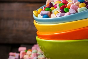 Mix of candies