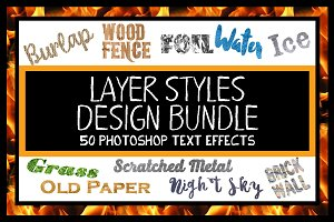 Layer Styles Design Bundle for PSD