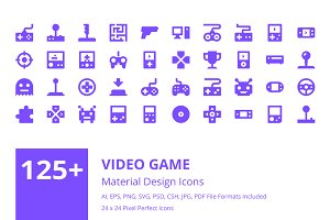 125+ Video Game Material Design Icon
