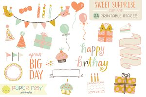 Sweet Surprise Clip Art | Raster
