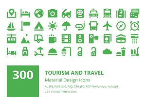 300 Tourism and Travel Material Icon