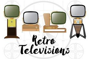 Retro Predicta TV Illustrations