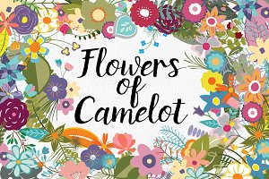 Flowers of Camelot Clip Art
