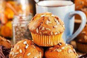 Delicious pumpkin muffins