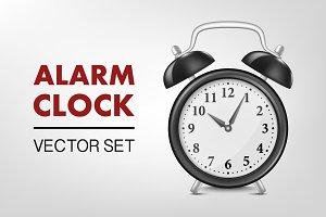 Alarm clock. Vector set