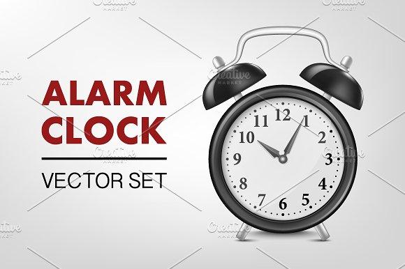 Alarm clock. Vector set - Illustrations