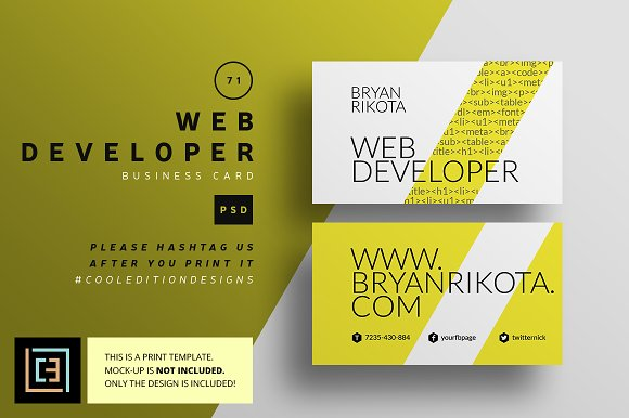 Web developer business card 71 business card templates web developer business card 71 business card templates creative market colourmoves