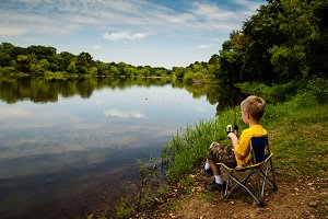 Little Kid Fishing