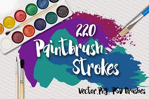 220 Paintbrush Strokes