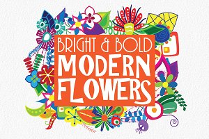 Bright and Bold Modern Flowers