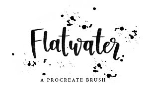 Flatwater Procreate Brush