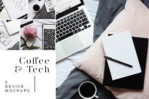 Coffee & Tech | 5 Device Mockups