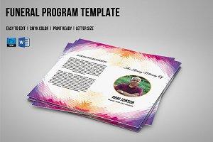 Funeral Program Template-V590