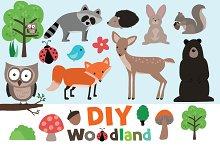 DIY Woodland Clip Art Set