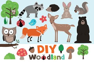 DIY Woodland Clip Art Set